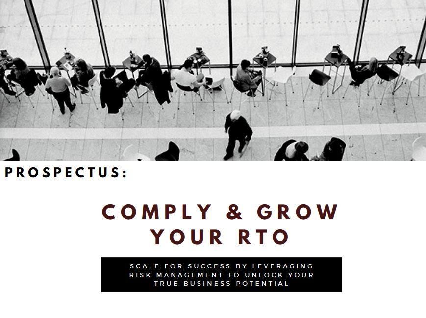 Comply & Grow Your RTO Prospectus